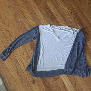 Madewell oversized long sleeve shirt